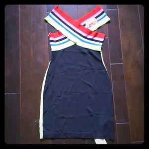 NEW WITH TAGS FENDI FF ROMA AMOR JERSEY DRESS SZ L